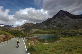Paysage Montagne Vélo Cyclisme Passo Gavia Italie Mountain Landscape Italy cyclism ciclismo Italia giro