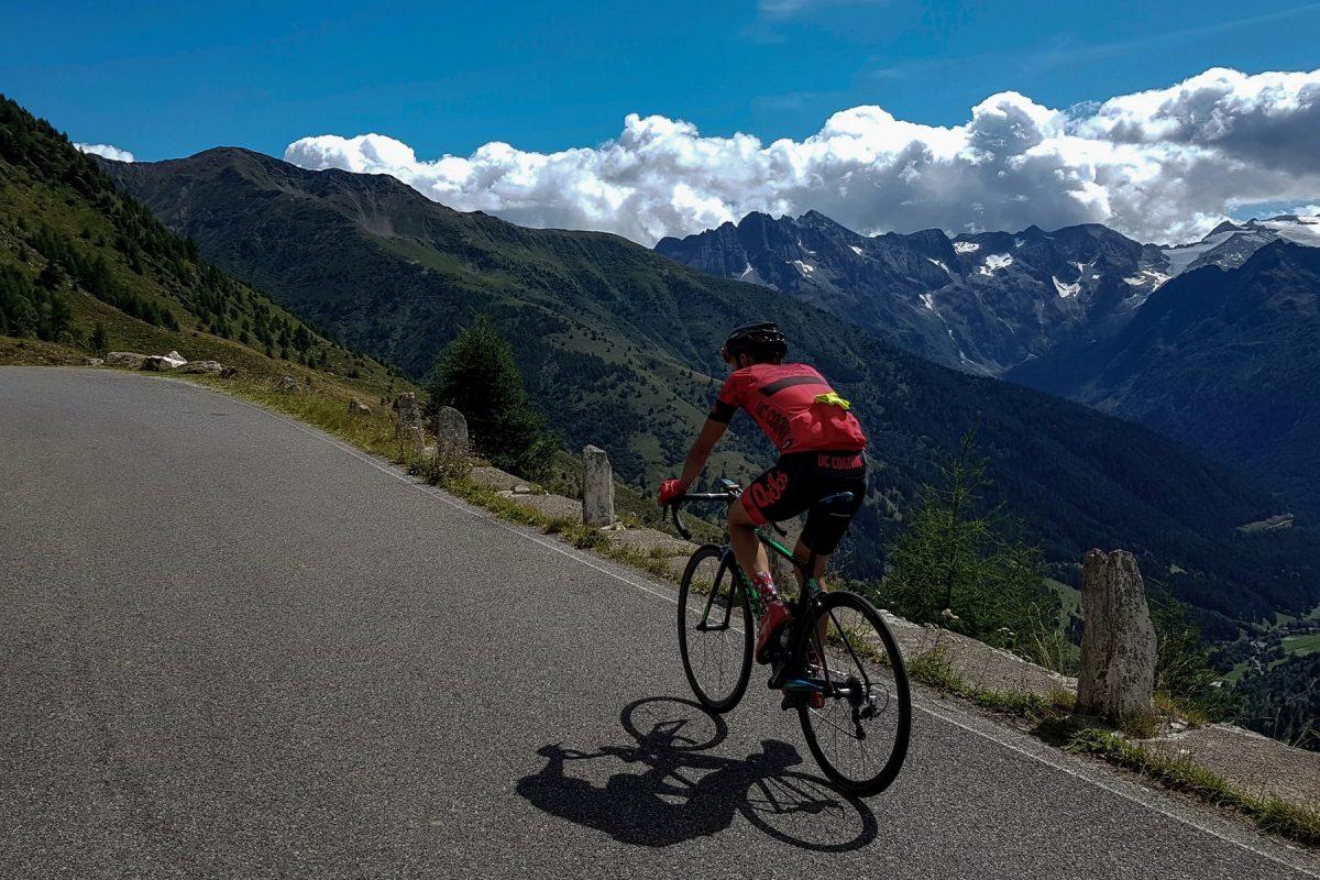 Paysage Montagne Alpes Vélo Cyclisme Passo Gavia Italie Italian Alps Mountain Landscape Italy cyclism ciclismo Italia giro