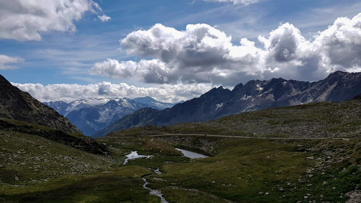 Paysage Montagne Alpes Passo Gavia Italie Italian Alps Mountain Landscape Italy Italia