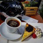 Café et tarte au sommet du Col du Gavia Italie Italia Italy food