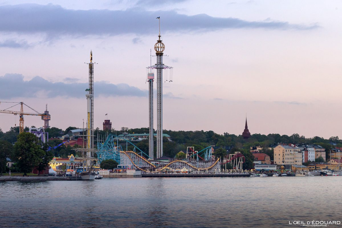 Parc d'attraction Grolund Djurgarden Stockholm Suède Sweden Sverige