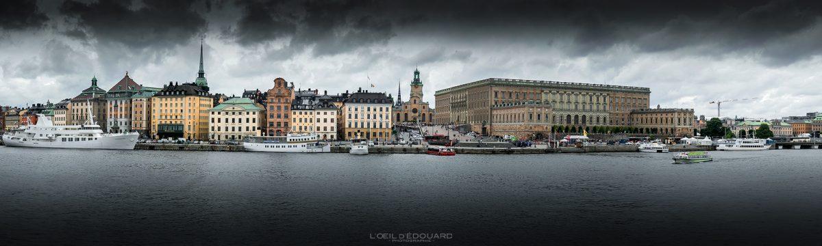 île Gamla Stan Stadsholmen Stockholm Suède Sweden Sverige night