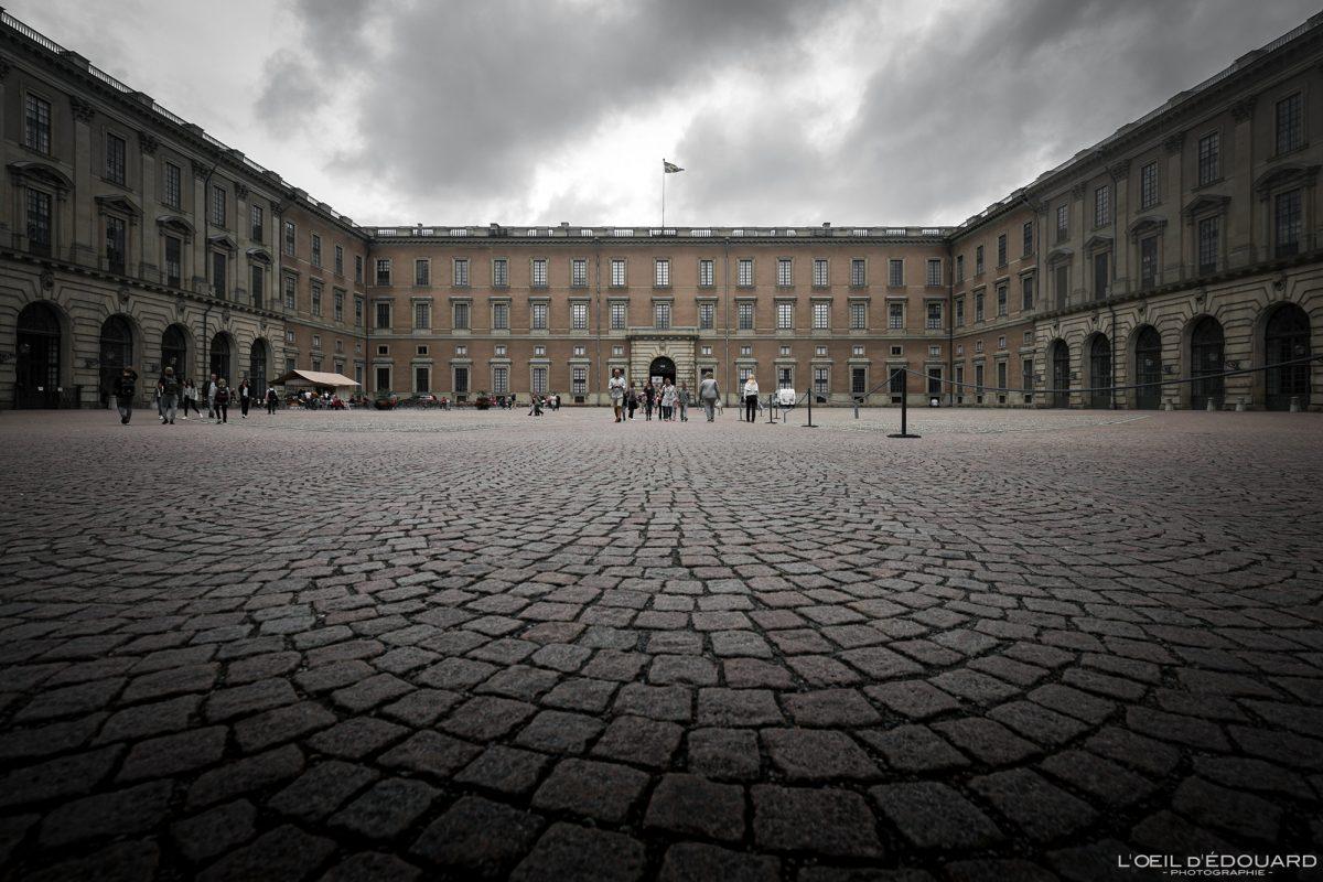 Palais Royal Kungliga Slottet - vieille ville Gamla Stan Stadsholmen Stockholm Suède Sweden Sverige architecture