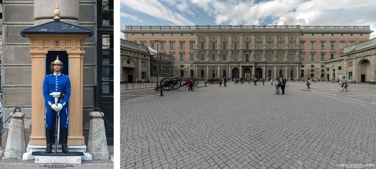 Garde Royale Palais Royal Kungliga Slottet - vieille ville Gamla Stan Stadsholmen Stockholm Suède Sweden Sverige Royal Guard