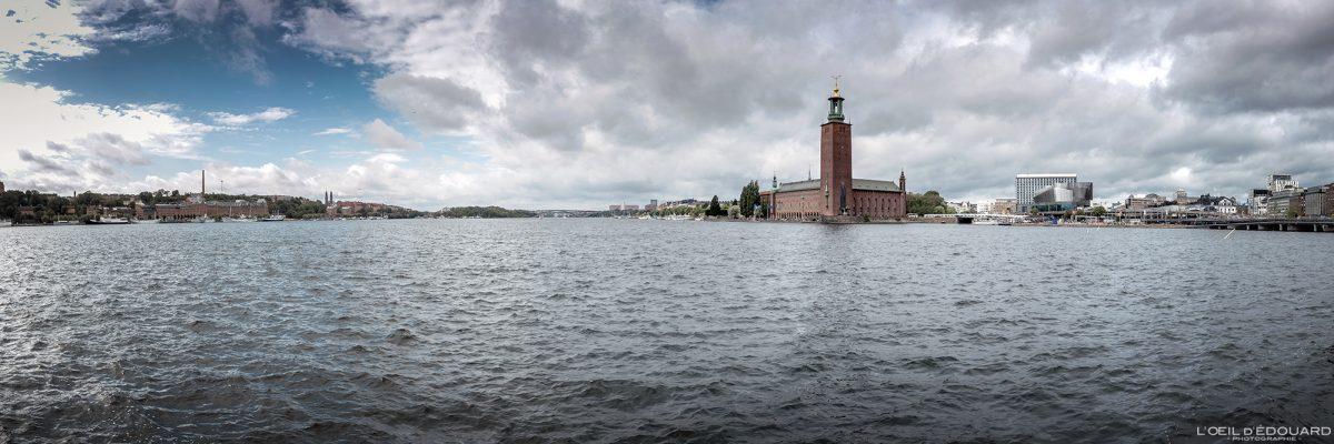 Riddarfjärden et Stadshus Kungsholmen Stockholm Suède Sweden Sverige