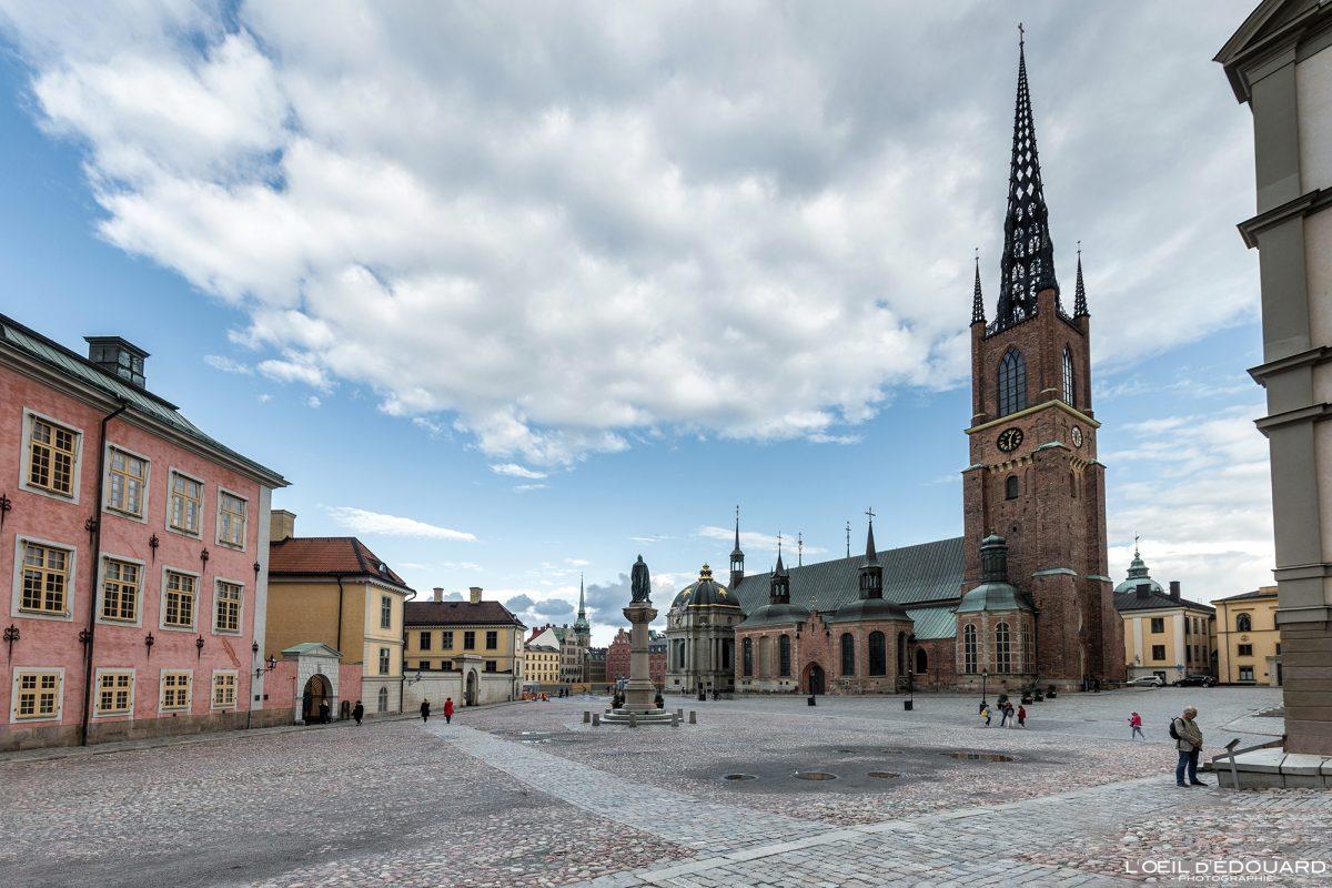 Église Riddarholmskyrkan sur l'île Riddarholmen - Stadsholmen Stockholm Suède Sweden Sverige church