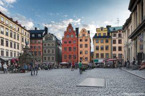 Place Stortorget - vieille ville Gamla Stan Stadsholmen Stockholm Suède Sweden Sverige