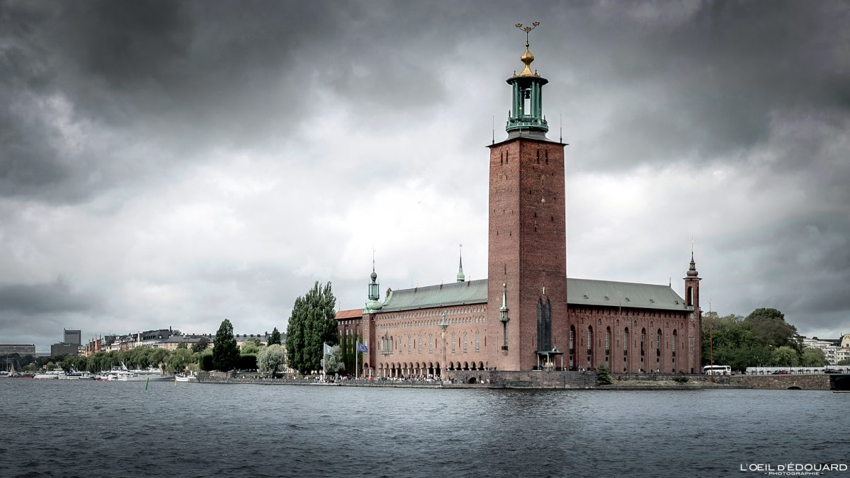 Stadshus Kungsholmen Stockholm Suède Sweden Sverige architecture