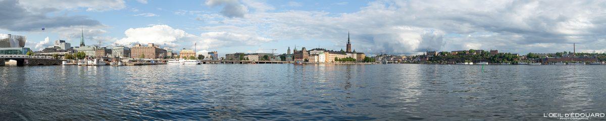 Panorama sur la ville de Stockholm depuis Stadshuset Kungsholmen Suède Sweden Sverige panoramic view