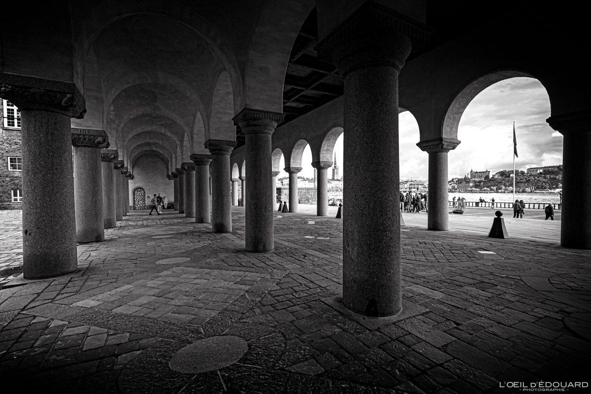 Arcades Stadshus Kungsholmen Stockholm Suède Sweden Sverige architecture