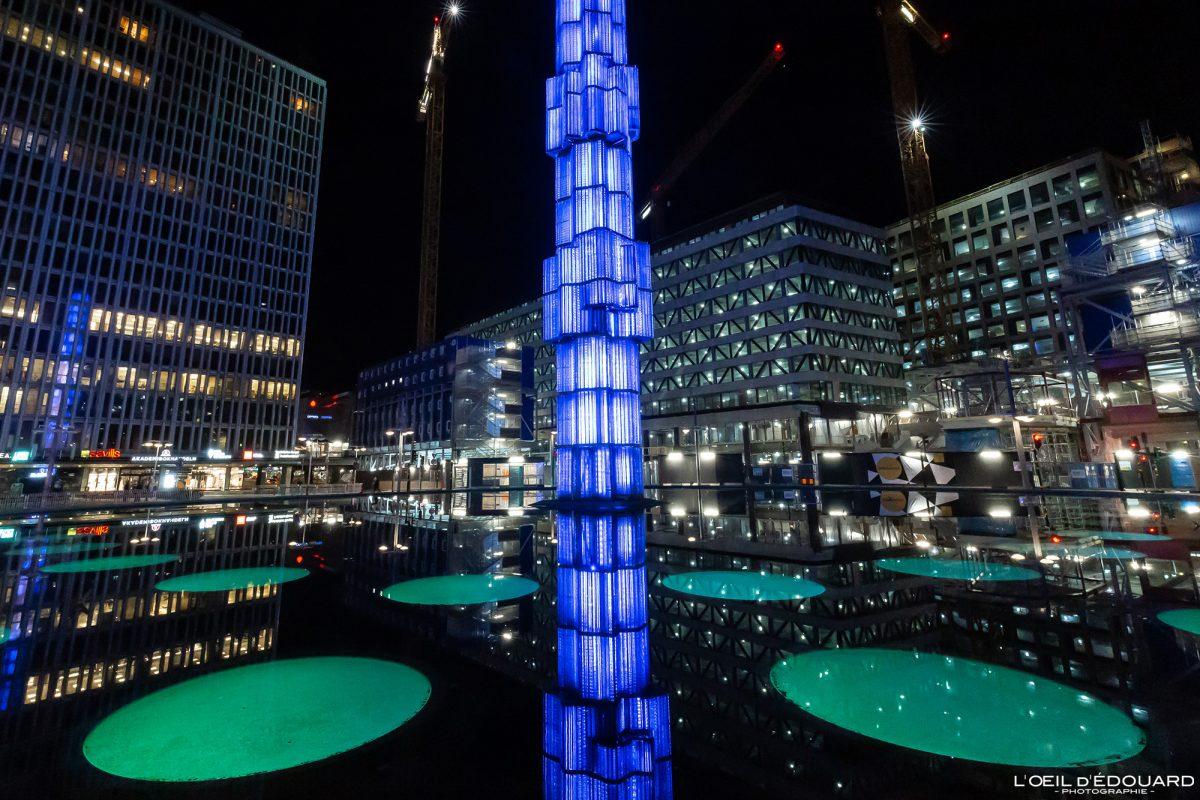 Place Hotorget - Sergels torg Norrmalm Stockholm Suède Sweden Sverige architecture tower sculpture