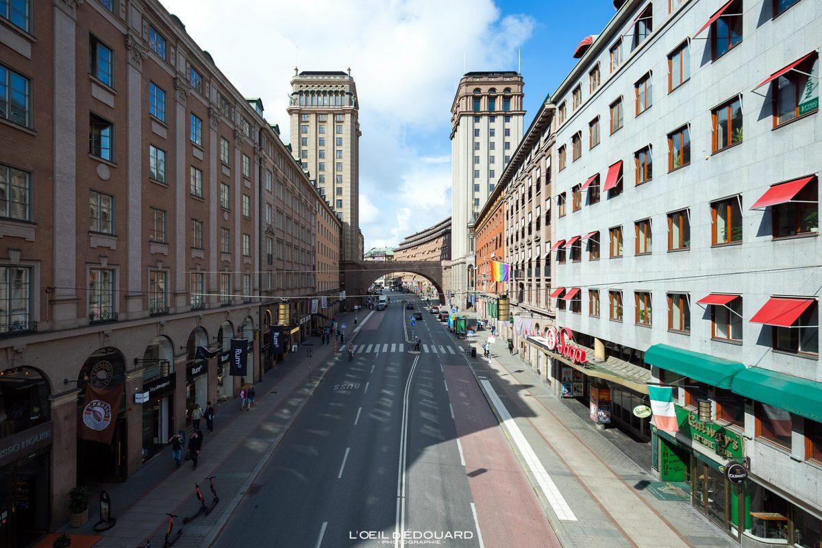 Tours rue Kungsgatan Norrmalm Stockholm Suède Sweden Sverige towers architecture building