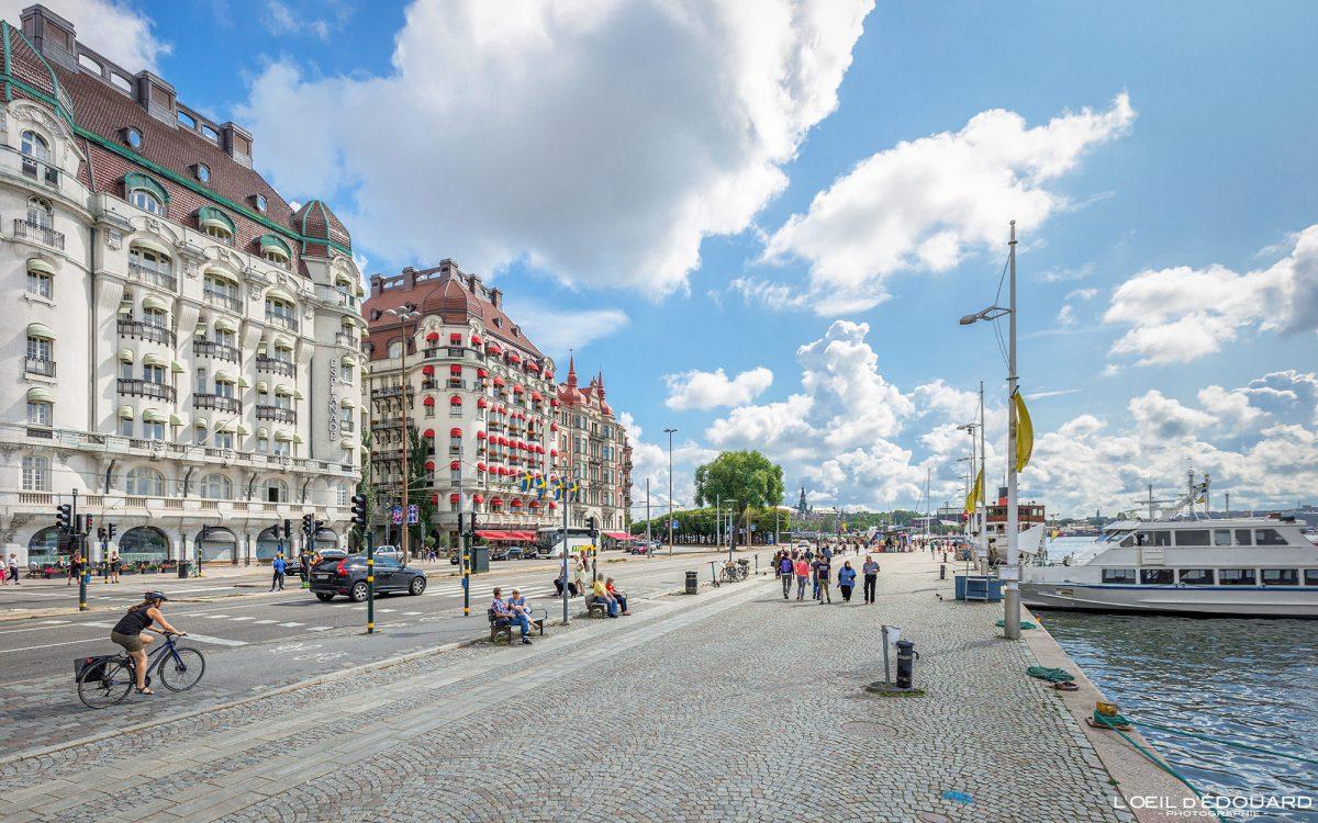 Promenade Strandvagen Norrmalm Stockholm Suède Sweden Sverige