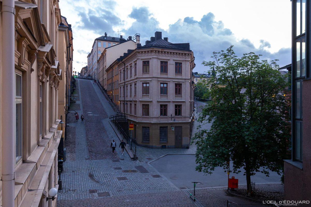 Sodermalm Stockholm Suède Sweden Sodermalm Sverige street