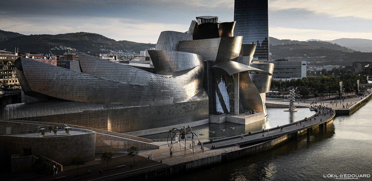 Musée Guggenheim Bilbao - Architecte Frank O. Gehry - Architecture contemporaine Espagne Paysage Basque Euskadi Espana Spain