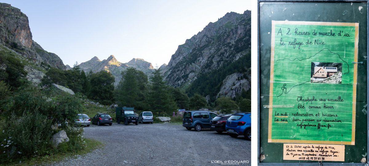 Parking Pont du Countet - Massif du Mercantour Alpes-Maritimes Provence-Alpes-Côte d'Azur / Paysage Montagne Randonnée Trek Outdoor Landscape Mountain Hike Hike Trekking