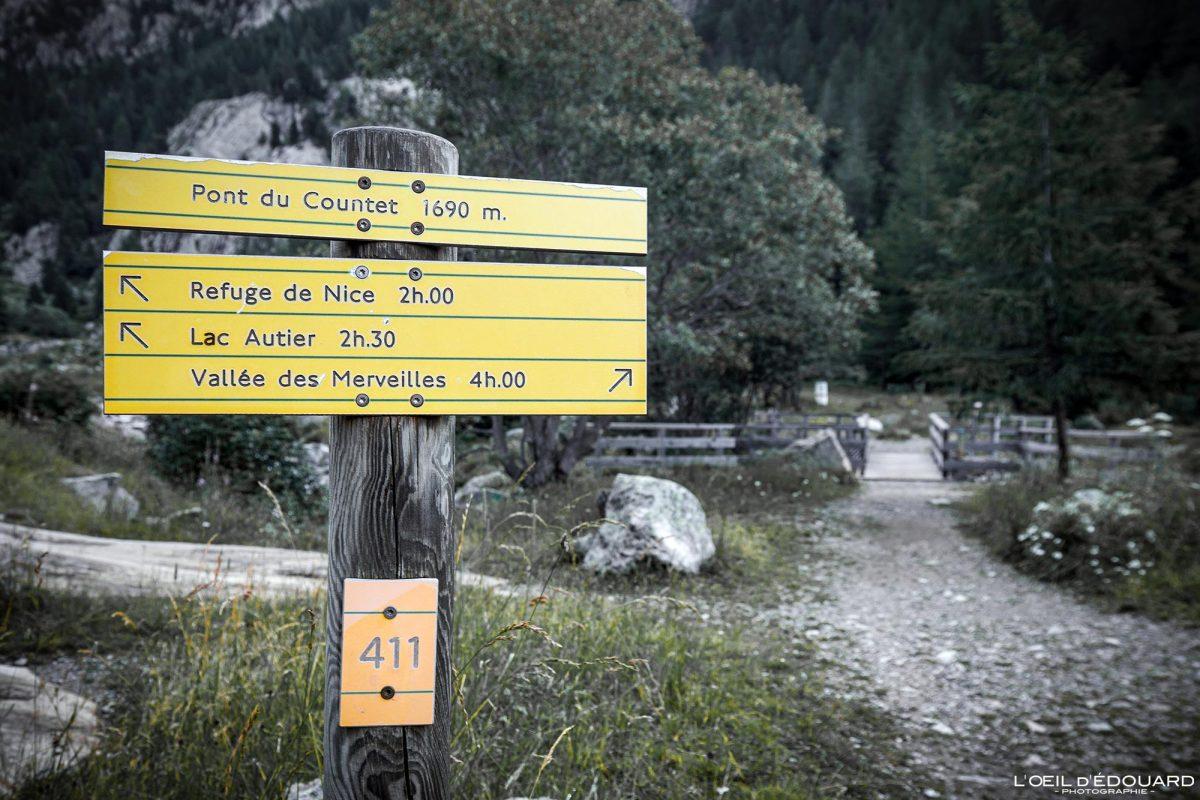 Pont du Countet - Massif du Mercantour Alpes-Maritimes Provence-Alpes-Côte d'Azur / Paysage Montagne Randonnée Trek Outdoor Landscape Mountain Hike Hike Trekking