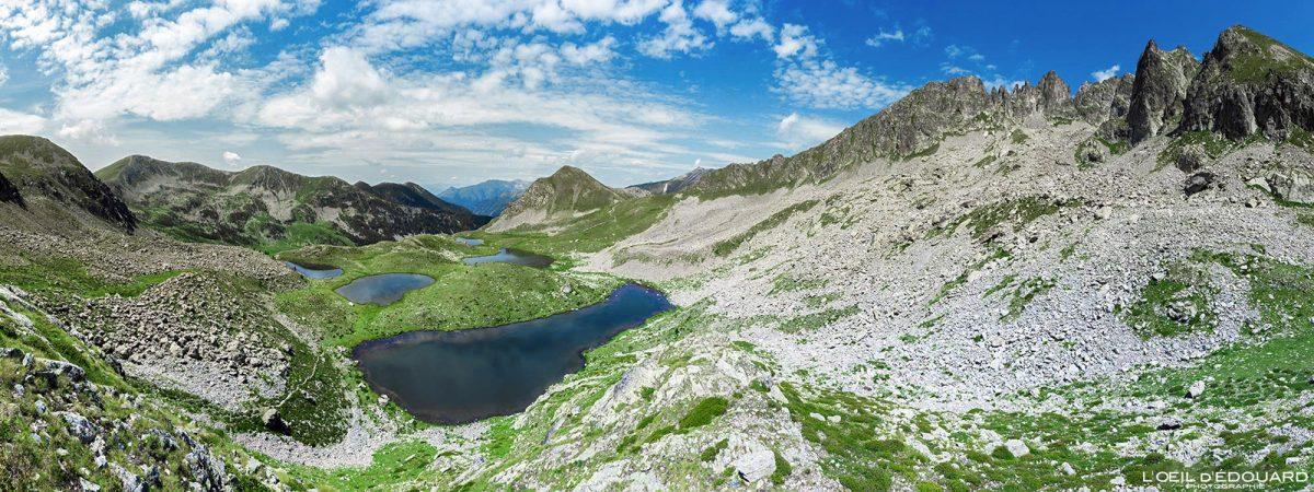 Cind Lacs de Prals - Massif du Mercantour Alpes-Maritimes Provence-Alpes-Côte d'Azur / Paysage Montagne Randonnée Trek Outdoor Landscape Mountain Hike Hike Trekking Lake