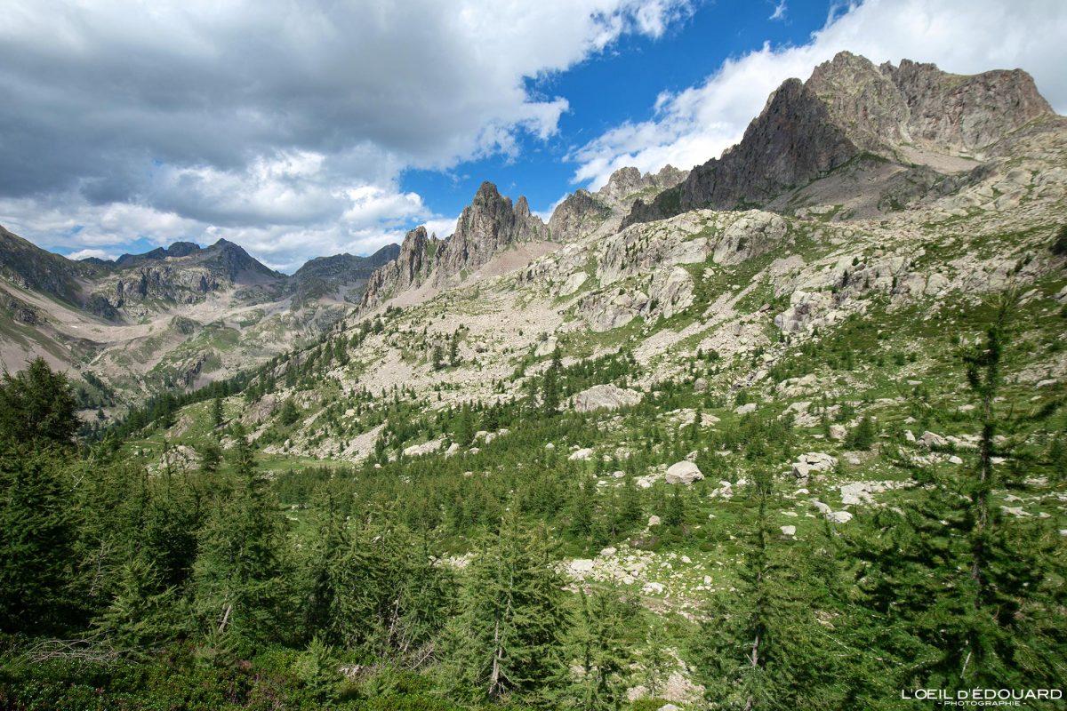 Vallon du Ponset - Massif du Mercantour Alpes-Maritimes Provence-Alpes-Côte d'Azur / Paysage Montagne Randonnée Trek Outdoor Landscape Mountain Hike Hike Trekking