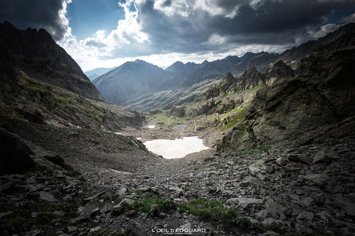 Randonnée Pas du Mont Colomb - Massif du Mercantour Alpes-Maritimes Provence-Alpes-Côte d'Azur / Paysage Montagne Trek Outdoor Landscape Mountain Hike Hike Trekking
