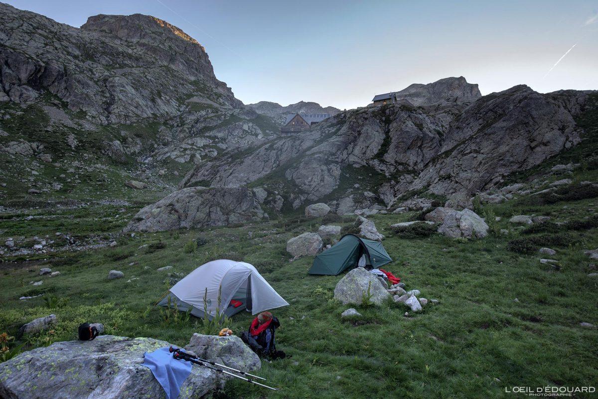 Bivouac Refuge de Nice Victor de Cessole - Massif du Mercantour Alpes-Maritimes Provence-Alpes-Côte d'Azur / Paysage Randonnée Montagne Trek Outdoor Landscape Mountain Hike Hike Trekking