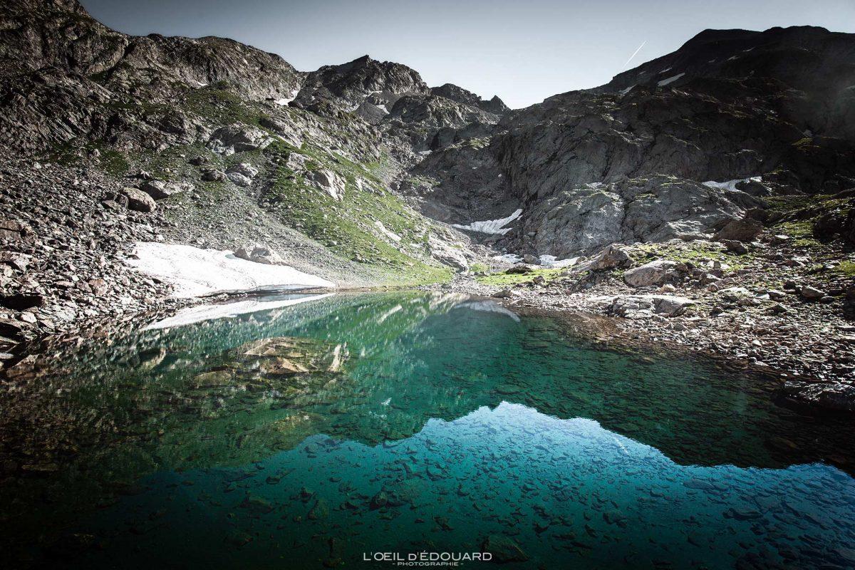 Randonnée Lacs du Mont Clapier - Massif du Mercantour Alpes-Maritimes Provence-Alpes-Côte d'Azur / Paysage Montagne Trek Outdoor Landscape Mountain Hike Hike Trekking lake