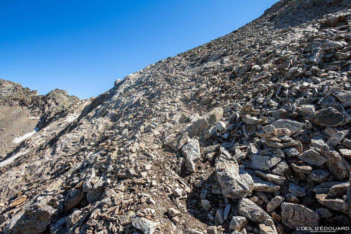 Pierrier Randonnée Mont Clapier - Massif du Mercantour Alpes-Maritimes Provence-Alpes-Côte d'Azur / Paysage Montagne Trek Outdoor Landscape Mountain Hike Hike Trekking
