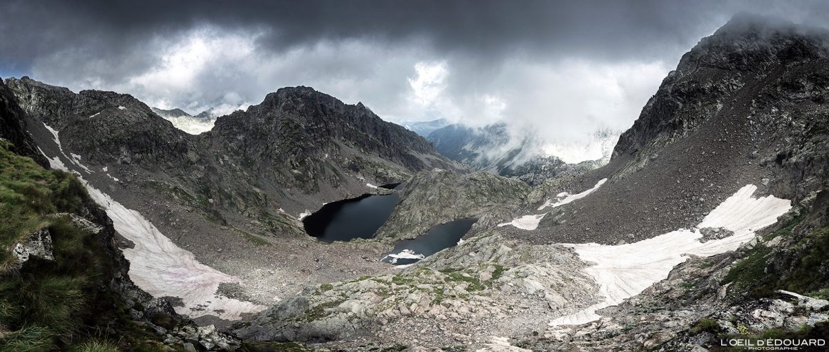 Randonnée Lac de la Lusière Lac Gelé - Massif du Mercantour Alpes-Maritimes Provence-Alpes-Côte d'Azur / Paysage Montagne Trek Outdoor Landscape Mountain lake Hike Hike Trekking