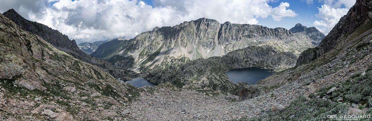 Randonnée Lac Vert Lac Noir - Massif du Mercantour Alpes-Maritimes Provence-Alpes-Côte d'Azur / Paysage Montagne Trek Outdoor Landscape Mountain lake Hike Hike Trekking