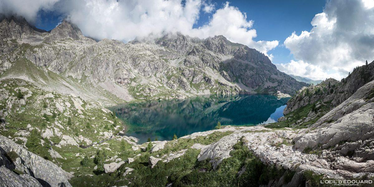 Lac Vert - Massif du Mercantour Alpes-Maritimes Provence-Alpes-Côte d'Azur / Paysage Montagne Randonnée Trek Outdoor Landscape Mountain lake Hike Hike Trekking