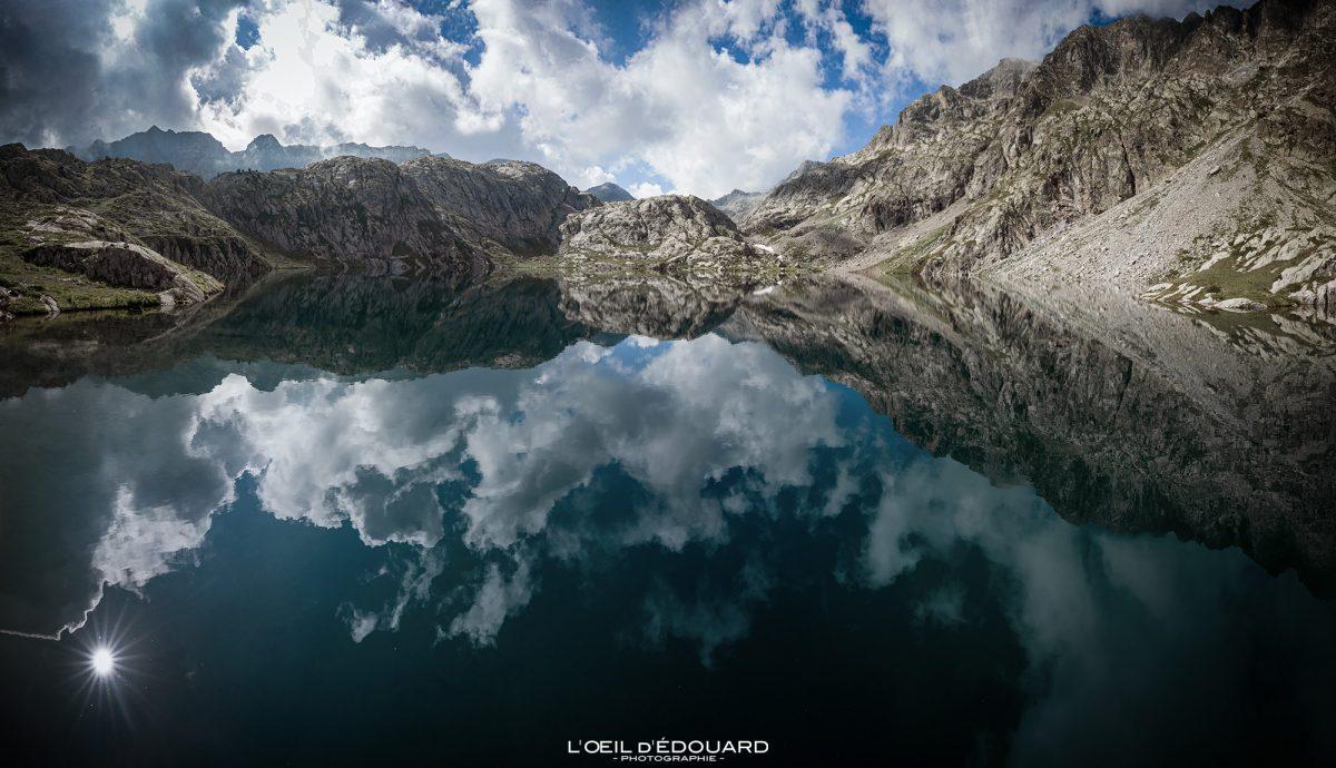Lac Noir - Massif du Mercantour Alpes-Maritimes Provence-Alpes-Côte d'Azur / Paysage Montagne Randonnée Trek Outdoor Landscape Mountain lake Hike Hike Trekking