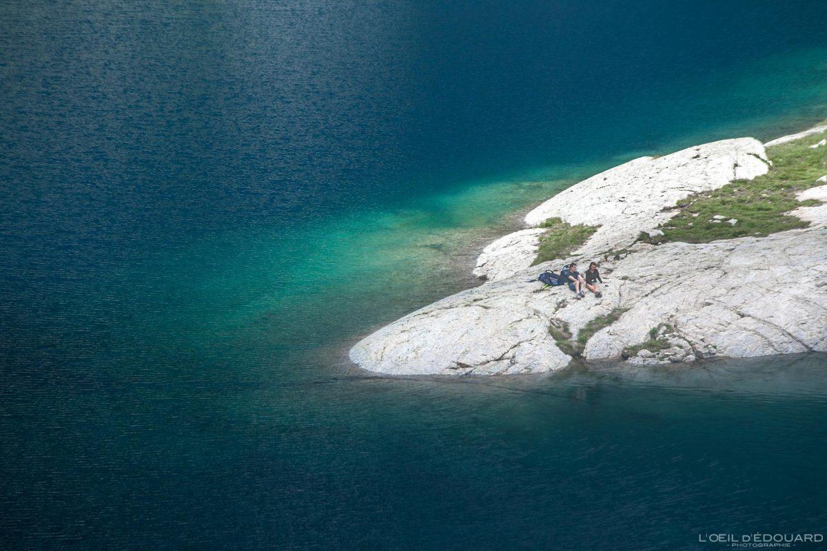 Lac du Basto - Massif du Mercantour Alpes-Maritimes Provence-Alpes-Côte d'Azur / Paysage Montagne Randonnée Trek Outdoor Landscape Mountain lake Hike Hike Trekking