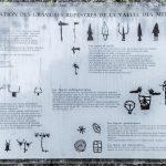Gravures rupestres Vallée des Merveilles - Massif du Mercantour Alpes-Maritimes Provence-Alpes-Côte d'Azur / Visage Archéologie Préhistoire Art Préhistorique