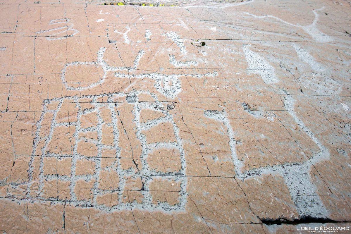 Gravures rupestres Roche de l'Eclat Vallée des Merveilles - Massif du Mercantour Alpes-Maritimes Provence-Alpes-Côte d'Azur / Archéologie Préhistoire Art Préhistorique Montagne Outdoor Mountain rock