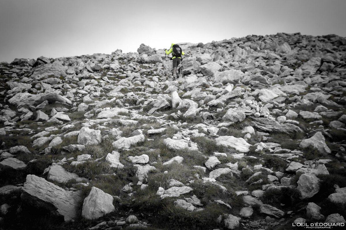 Sentier de randonnée Mont Bégo - Vallée des Merveilles - Massif du Mercantour Alpes-Maritimes Provence-Alpes-Côte d'Azur / Paysage Montagne Trek Outdoor Landscape Mountain Hike Hike Trekking