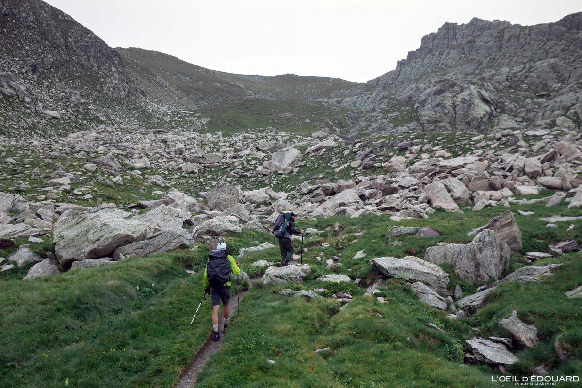 Sentier de randonnée Pas de l'Arpette - Vallée des Merveilles - Massif du Mercantour Alpes-Maritimes Provence-Alpes-Côte d'Azur / Paysage Montagne Trek Outdoor Landscape Mountain Hike Hike Trekking