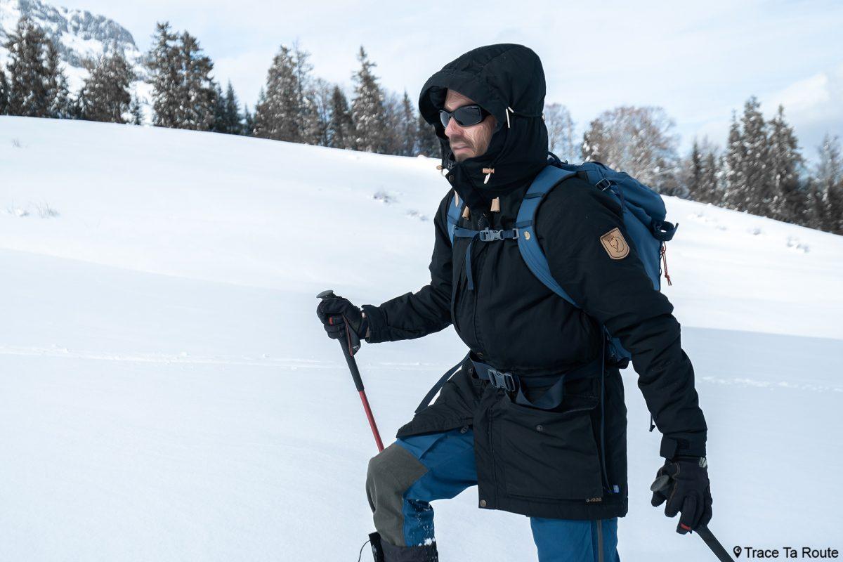 Test Veste Fjällräven Singi Wool Padded Parka Jacket Review Outdoor Winter snow hiver randonnée en raquettes hiver