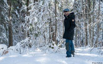 Test Veste Fjällräven Singi Wool Padded Parka Jacket Review Outdoor Winter snow forest