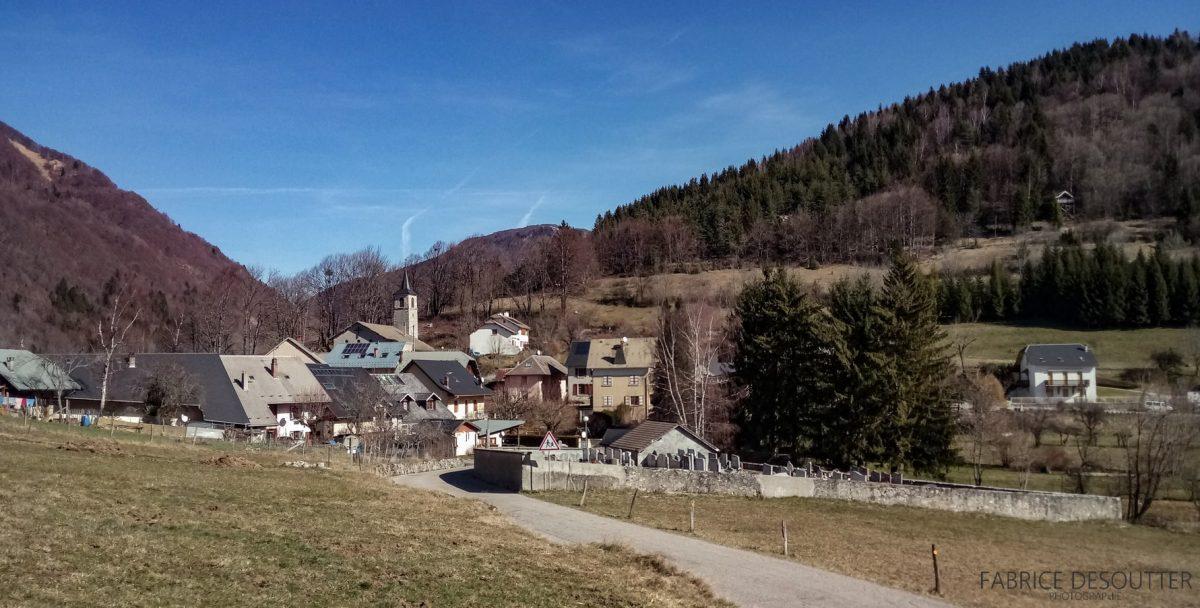 Village de La Thuile Massif des Bauges - Cyclisme vélo - Paysage Montagne Outdoor road bike Mountain Landscape