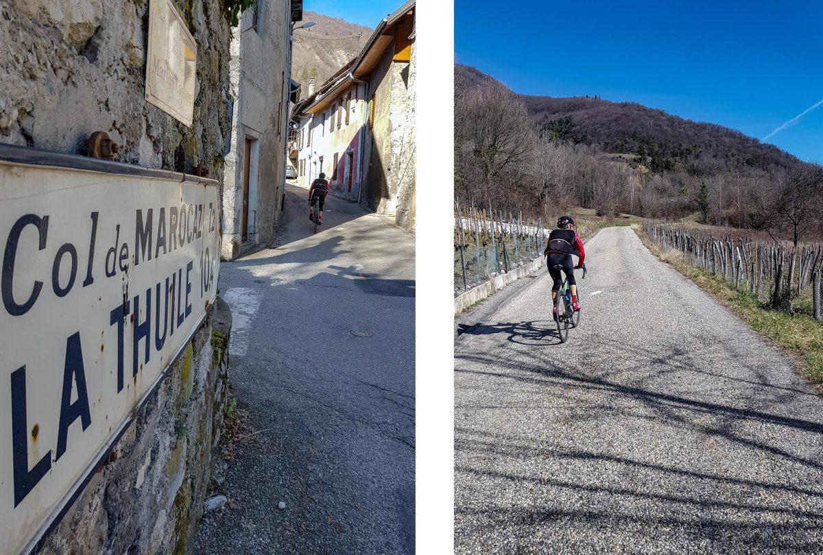 Cyclisme Col de Marocaz en vélo - Cruet Massif des Bauges Outdoor road bike