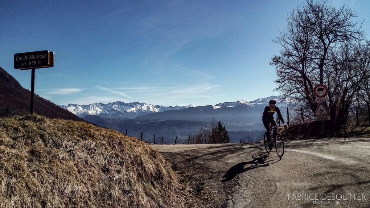 Cyclisme Col de Marocaz en vélo - Massif des Bauges Outdoor road bike mountain landscape