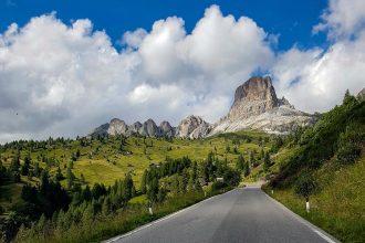Paysage Montagne Dolomites Alpes Vélo Cyclisme Col Passo Giau Italie Italian Alps Road Mountain Landscape Italy cyclism ciclismo Dolomiti Italia
