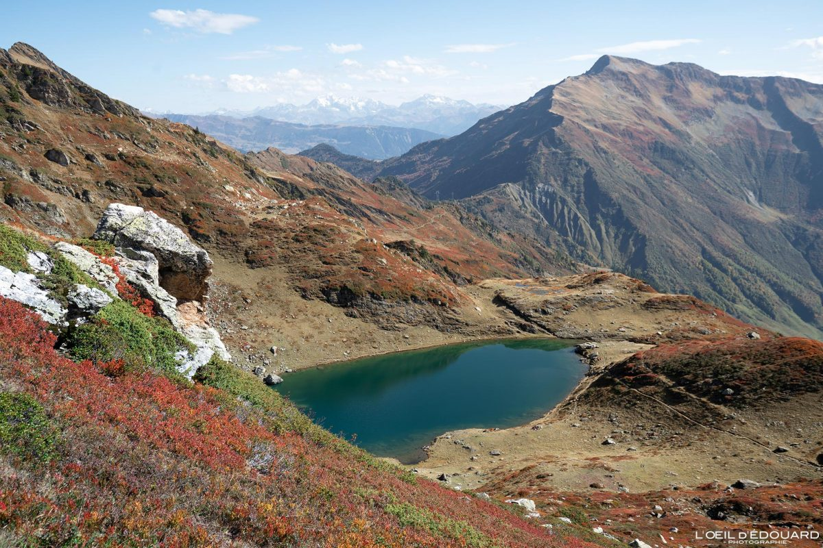 Lac Noir Randonnée Le Grand Arc Savoie Alpes France Montagne Paysage Automne Outdoor French Alps Autumn Landscape Mountain lake Hike Hiking