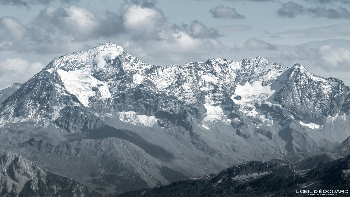 Le Mont Pourri depuis Le Grand Arc Savoie Alpes France Montagne Paysage Outdoor French Alps Landscape Mountain summit