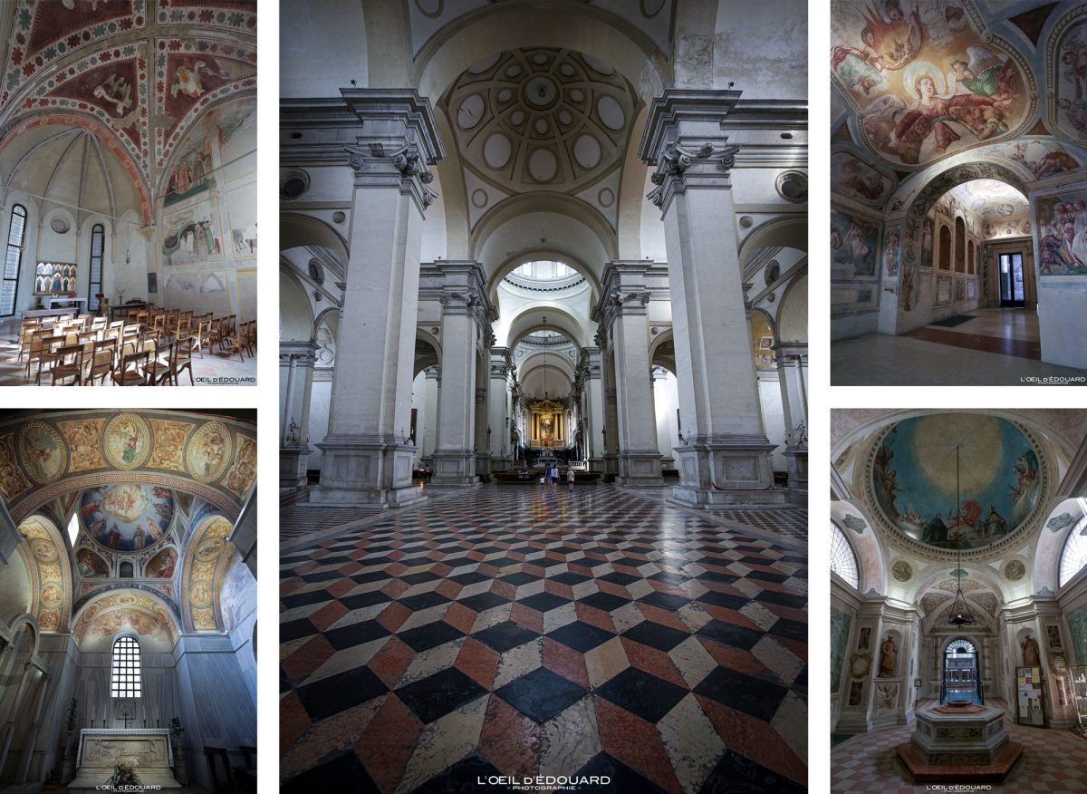 Intérieur Basilique Sainte Justine de Padoue Italie - Basilica di Santa Giustina Padova Italia Italy Italian church architecture baroque