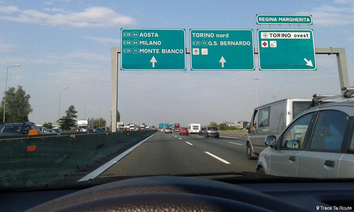 Autoroute Turin Road Trip Italie du Nord - Autostrada Torino Italia Italy highway road