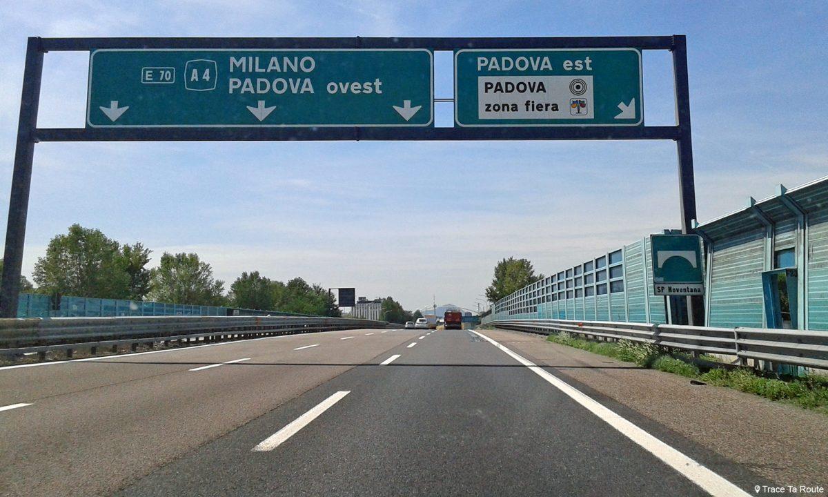 Route Road Trip Italie du Nord Padoue Vénétie - Padova Veneto Italia North Italy road