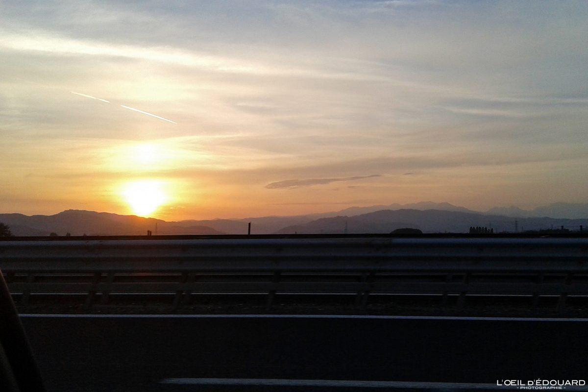 Coucher de soleil en Vénétie Road Trip dans le Nord de l'Italie - Veneto Italia North Italy road sunset