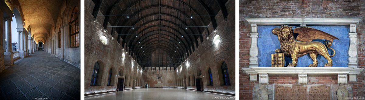 Intérieur Hall Palazzo della Ragione Vicence Italie Vénétie - Basilica Palladiana Vicenza Italia Veneto Italy