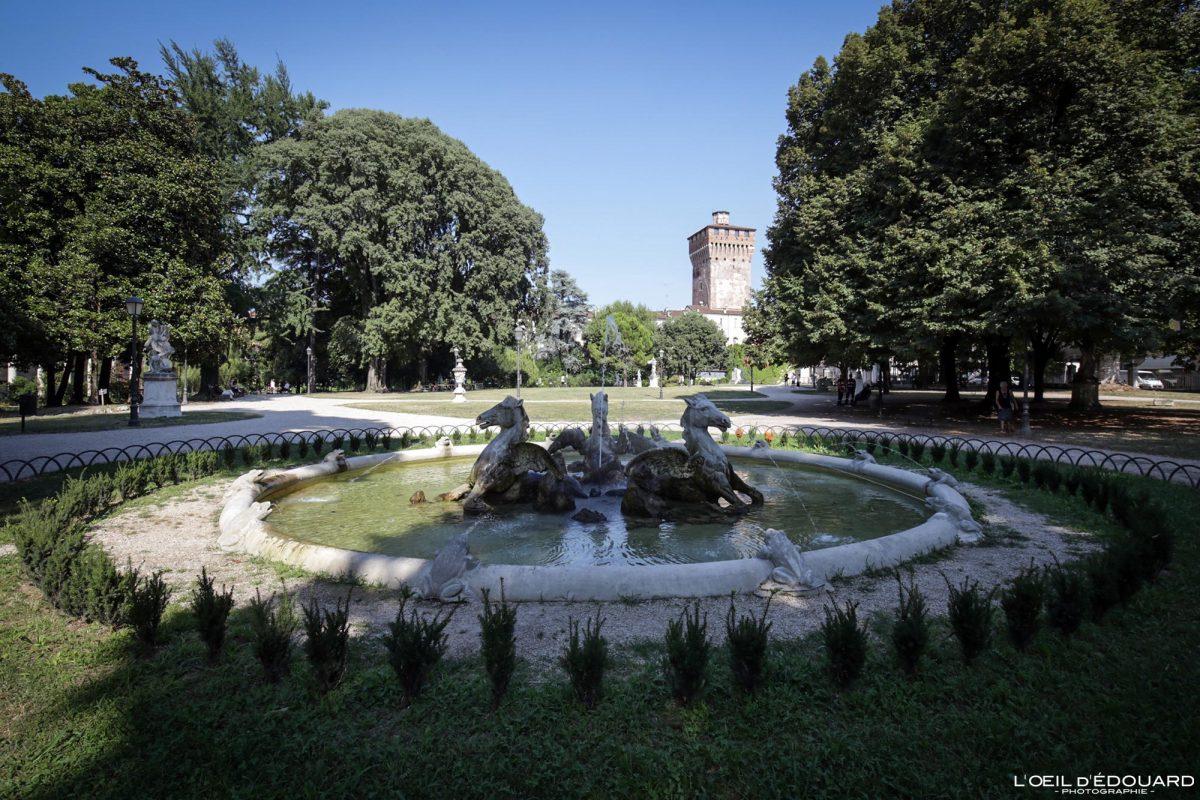 Fontaine Jardin Querini Vicence Italie Vénétie - Fontana Giardini Querini di Vicenza Italia Veneto Italy fountain garden park